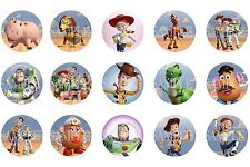 15 Pre-Cut Toy Story 1 Inch Bottle Cap Images