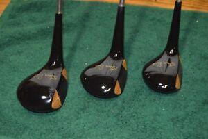 Vntg VOIT AMF Steve Reid Woods Set of 3 Golf Clubs1,3,4 Steel M Shafts Or Grips
