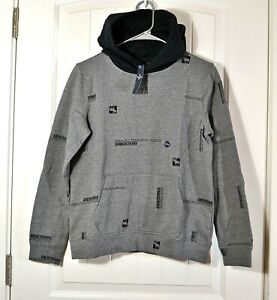 NWT KIDS YOUTH BOYS ABERCROMBIE GREY HOODIE JACKET PULLOVER SZ 13/14, 15/16