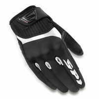 Spidi G-Flash Ladies Motorbike Motorcycle Textile Gloves Black / White