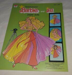 Vintage Whitman Fashion Photo Barbie & PJ Paper Dolls Uncut $6.99