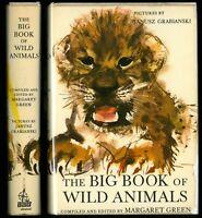 Janusz Grabianski THE BOOK OF WILD ANIMALS 1964 1st US Ed, Margaret Green CLEAN