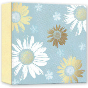 """Blue Floral Sunflower Design Slip In Memo Photo Album 4x6"""" 200 Photos"""