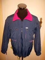 vintage VAUDE Nylon Jacke Weste outdoor jacket blau/pink/lila Gr.L