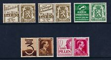 Belgium 1943 Booklet Stamps + Advertising Labels VLM/M & VFU