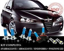 ALFA ROMEO 147 SET COMPLETO LAMPADE BLU XENON + POSIZIONE A LED