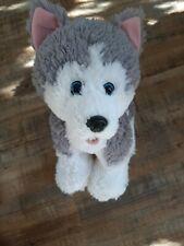 Build-a-Bear Alaskan Husky With Collar Plush Stuffed Dog 12 in. Toy Soft, Fluffy