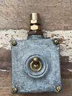 Vintage Brass Cast Iron Industrial Light Switch Restored Original Salvage