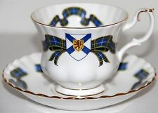 Vtg Royal Albert Nova Scotia Tartan Bone China Cup & Saucer England