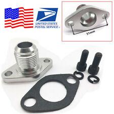 CNC Billet Aluminum AN12 Oil Drain Flange For Turbos T3 T4 T04E T04B T04E -12AN
