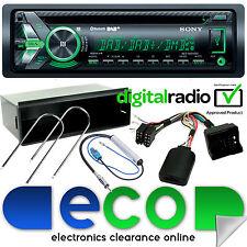Peugeot 207 2006-12 Sony DAB + Bluetooth CD MP3 USB Automóvil Estéreo Kit De Volante
