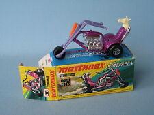 Lesney Matchbox Superfast 38 Stingeroo Chopper Bike Dk Purple Boxed