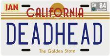 The Grateful Dead Deadhead 1984 California License Plate