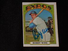 BOBBY WINE 1972 TOPPS SIGNED AUTOGRAPHED CARD #657 HI# MONTREAL EXPOS