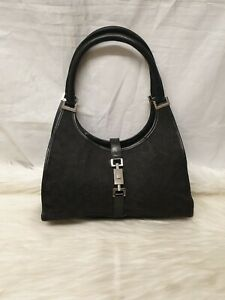 Authentic Gucci Jackie Shoulder monogram leather Bag 002.1067