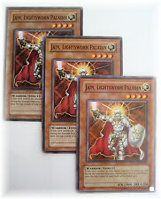 3 x JAIN, LIGHTSWORN PALADIN LODT-EN018 yugioh Warrior common card set NM