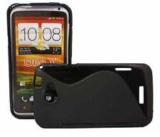 TPU Style Case Wave für HTC ONE X in schwarz Silikon Skin Hülle Bag black