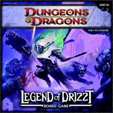 The Legend of Drizzt Board Game (Dungeons & Dragons, D&D) [New Book] Dice Game