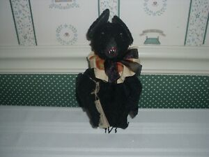 """GALLERIE II""""-JOE SPENCER -GATHERED TRADITIONS-8"""" GROVER BAT FABRIC DOLL -2020"""