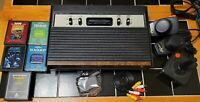 Atari 2600 Console Sears Tele-Games 4 Switch RARE! w/ 5 Games recapped Av Modded