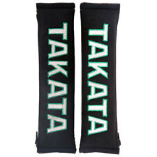 JDM TAKATA BLACK SEAT BELT HARNESS COMFORT PAD SET MADE IN UK