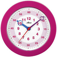 Atlanta 4481/17 Wanduhr für Kinder Kinderwanduhr Lernuhr pink leise ohne Ticken
