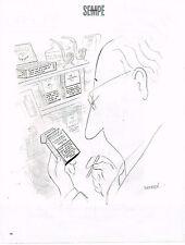 """PUBLICITE ADVERTISING 045  2005  DESSIN  signé Sempé """"le paquet de cigarettes"""""""
