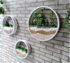 3PCS White Wall Vase Planter for Succulents Herbs Round Hanging Vases Wall Decor