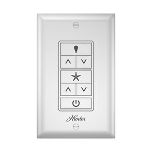 Hunter Fan Company 99375 Universal Ceiling Fan and Light Wall Control, White