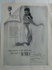 1951 women's Nemo circlet girdle bra nude three year old big girl now vintage ad
