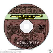 Jugend, Vintage German Art Nouveau Magazine Jugendstil, 678 Issues Vol 1 DVD C24