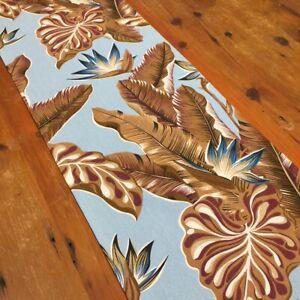 Table Runner, Tropical & Floral Table Runner, Elegant Duck Egg & Browns, Aus