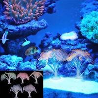 Fluorescent Coral Plant Aquarium Glow In The Dark FishTank Ornament DecorationVY