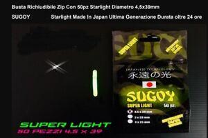 Starlight Pêche Super Lumière Sugoy Japon 4,5 X 39 MM 50 PC Star 36 Heures