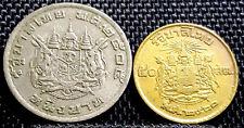 AD1957,Thailand 50 Satang & AD1962 1 Baht Coin 2pcs (+ FREE 1 coin) #D2787