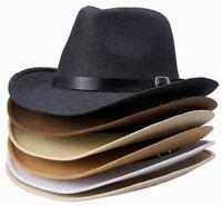 Men Women Panama Hats Wide Brim Sombrero Sunhat Sunbonnet Jazz
