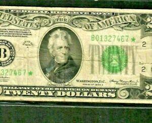 "$20 ""STAR""STAR""(NEW YORK) 1934-A $20 ""STAR""STAR""STAR"" 1934-A (NEW YORK)  RARE!!!"