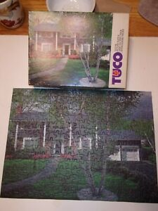 Vintage Jigsaw Puzzle Tuco Shady Calm35015x11Complete House in the Suburbs