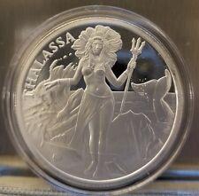 Thalassa 1 oz .999 silver primordial goddes of the sea mermaid siren Aphrodite