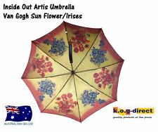 VAN GOGH IRISES AND SUNFLOWER AUTOMATIC OPENING UMBRELLA INSIDE ART 100CM HW184