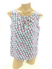 Talbots Women's Multi-Color Parrots Bird Sleeveless Shirt Top Blouse Medium M