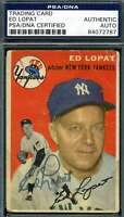 Ed Lopat 1954 Topps Psa Dna Coa Autograph Authentic Hand Signed