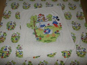 XL Disney Bettwäsche Mickey Minnie Mouse 70er bedding fabric vintage 70s 80s diy