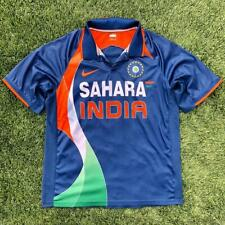 EUC Mens Blue Nike Sahara India Keyur #9 Cricket National Jersey Large