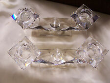 Pair Swarovski Crystal Double Candlesticks-Vintage