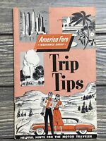 Vintage Booklet Travel Brochure Continental Insurance Company Trip Tips 1953