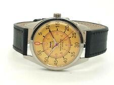 genuine hmt pilot hand winding men steel Yellow dial 17j vintage india watch run