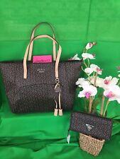 NEW!  GUESS Dorando Signature G Print Tote Bag Purse Handbag & Wallet 2 Pc SET