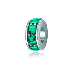 NEW Green Spacer Bead For European 925 Silver Charms Bracelet DIY