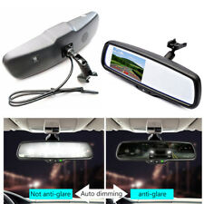 "Auto Dimming Rear View Mirror Built in 4.3"" TFT LCD Monitor 2CH Video + Bracket"